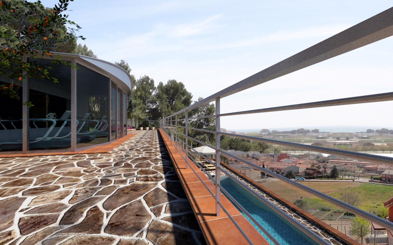 Construcción de piscina baranda