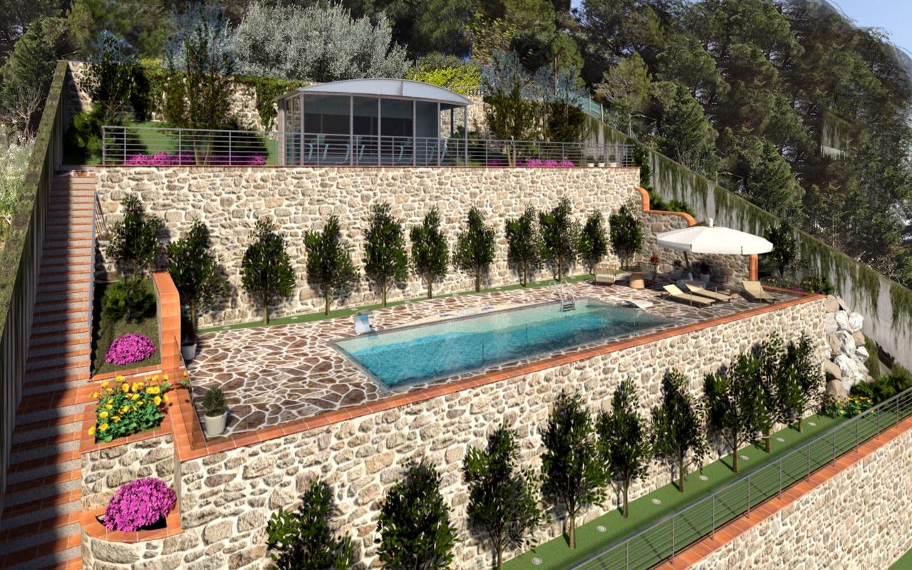 Render de Construcción de piscina