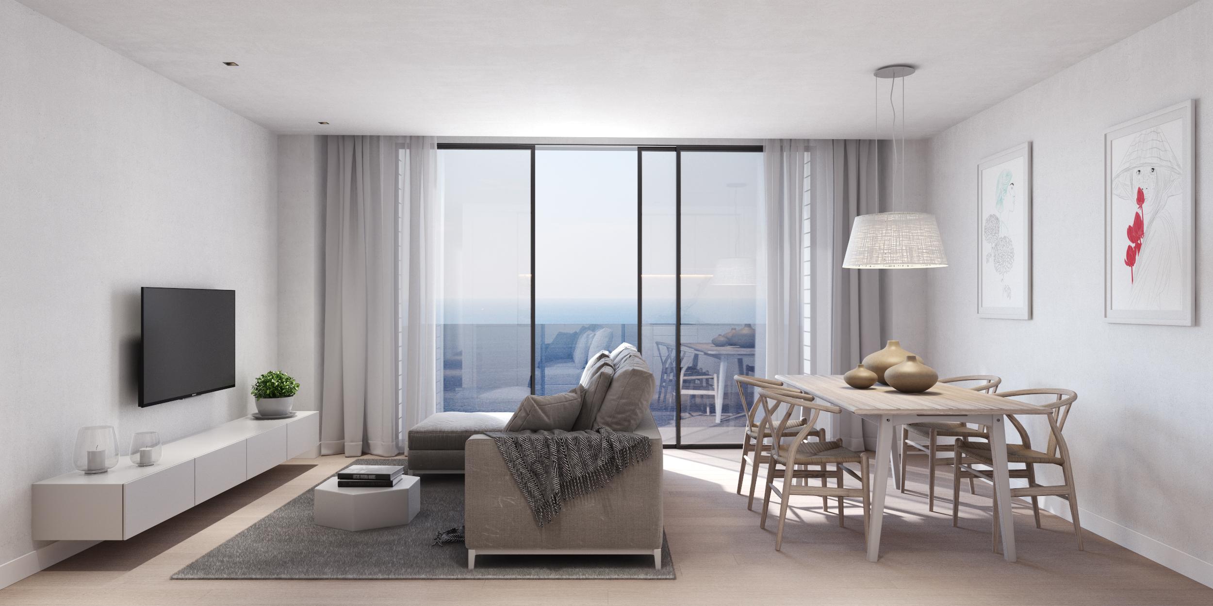 6 pisos en 1ª LÍNIA DE MAR.  Edificio de obra nueva